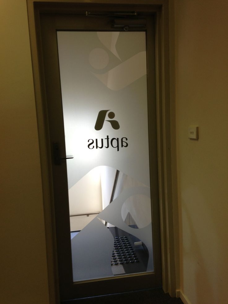 Frosting applied to entrance door for Aptus. Installed by Sign A Rama Box Hill.