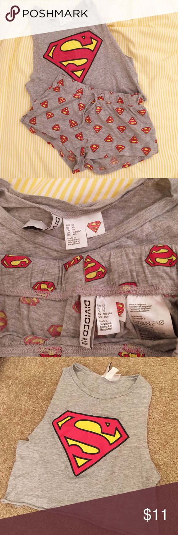 H&M superman sleepwear set Size: XS. Never been worn. In great condition. Feel free to make an offer. :) H&M Intimates & Sleepwear