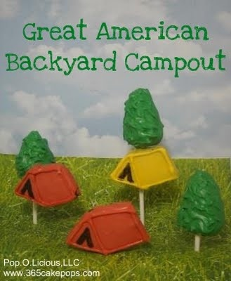 great american backyard campout day cake on a stick pinterest