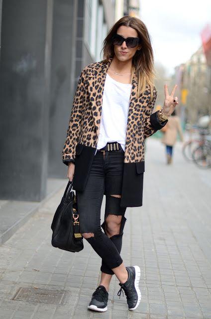 Littleprp: Black, sneakers & animal print