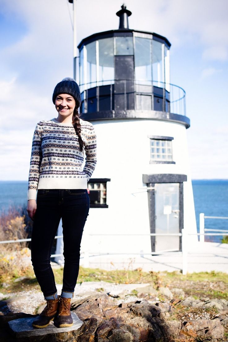 I want this outfit for the next time I visit Owls Head Lighthouse this winter! If only I had a few hundred dollars ;-)