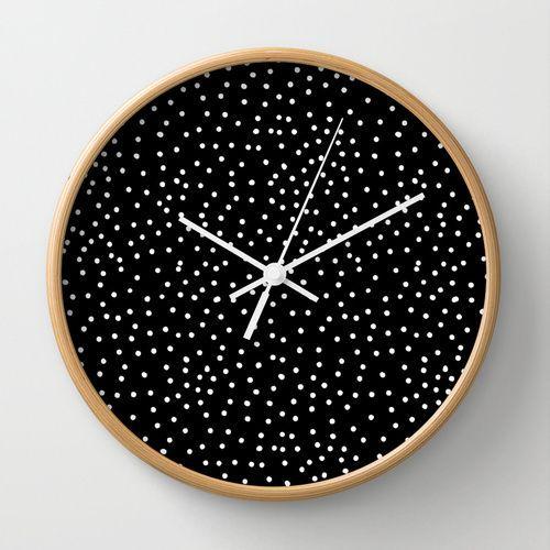 White dots wall clock ♥