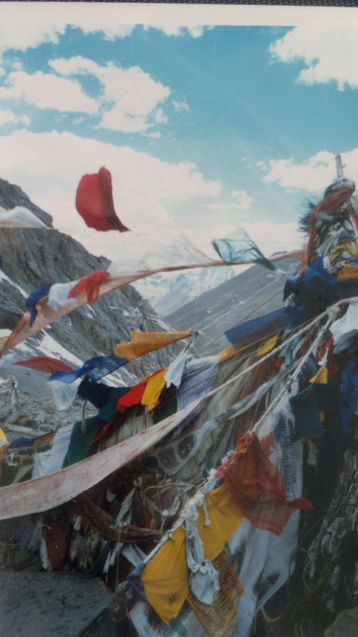 This is the view from the top of the Drolma La. The highest pass on the pilgrims route that encircles the sacred Mountain of Kailash... http://www.everherenow.com/p/books-by-writer_8768.html
