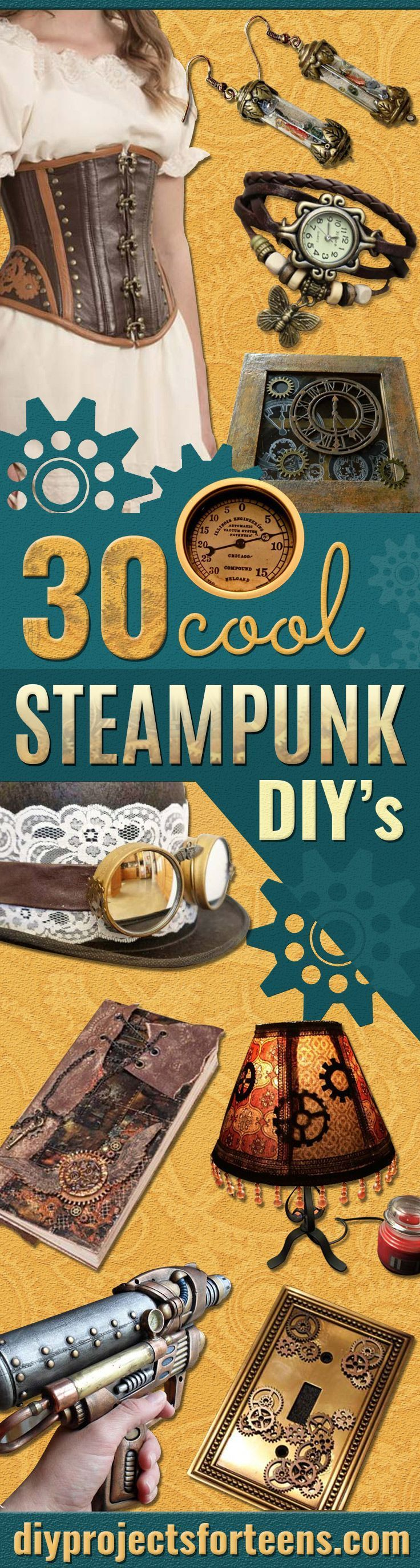 Cool Steampunk DIY Ideas - Easy Home Decor, Costume Ideas, Jewelry, Crafts, Furniture and Steampunk Fashion Tutorials - Clothes, Accessories and Best Step by Step Tutorials - Creative DIY Projects for Adults, Teens and Tweens