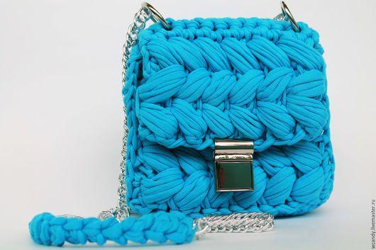 трикотажная сумка крючком схема вязать