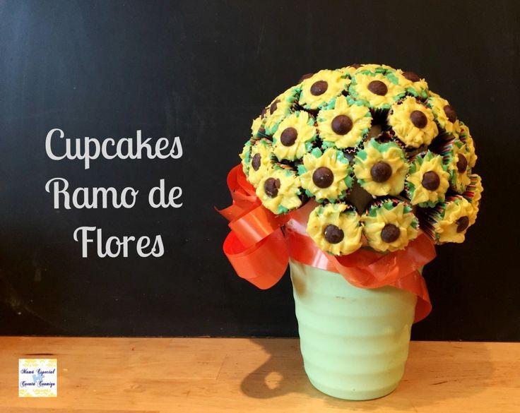 ramo de flores cupcakes