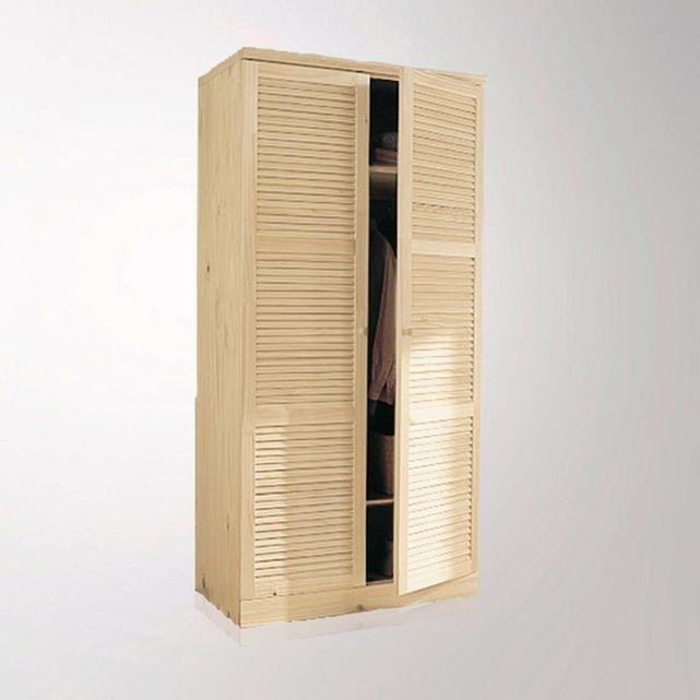 Armoire, pin massif, H205 cm, penderie, Mayor