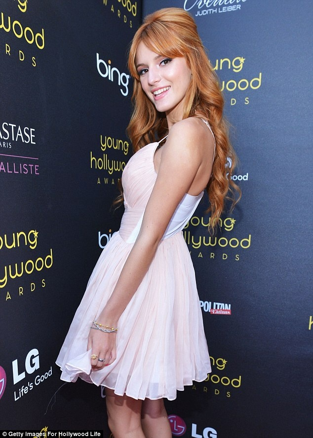 You looks absolutely enchanting Bella. Shake it up! Disney star Bella Thorne looked beautiful in a pale pink dress