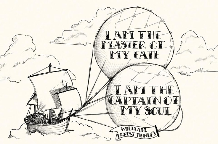 """""""I am the master of my fate. I am the captain of my soul."""" - William Ernest Henley    Illustration by Ana Varela http://www.behance.net/anavarela"""