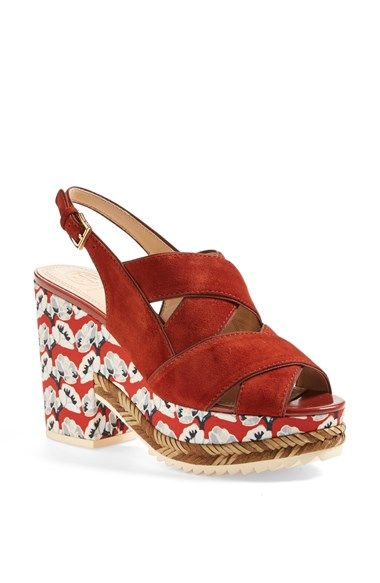 Tory Burch 'Cici' Platform Suede Sandal available at #Nordstrom