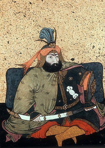 Sultan Murad IV, 1623-1640, portrait from nineteenth century manuscript no 3109, Topkapi Palace Museum, Istanbul, Turkey