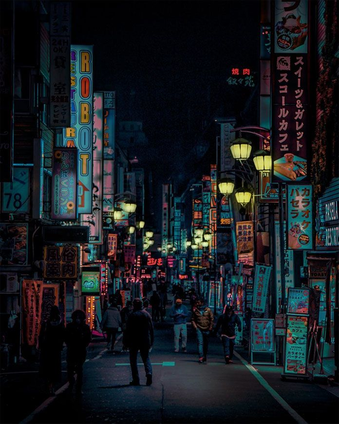 Neon Tokyo by Liam Wong. Walking the nocturnal streets of Shinjuku with all the neon signage.