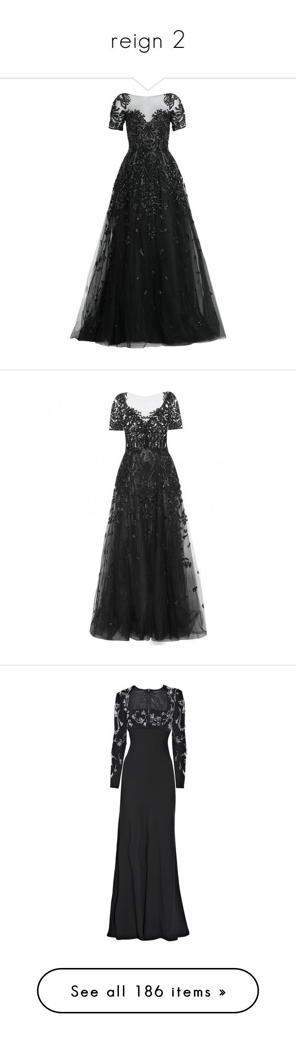 """""""reign 2"""" by rebellious-ingenue ❤ liked on Polyvore featuring dresses, gowns, long dresses, vestidos, black, beaded evening gowns, long beaded dress, long sparkly dress, sheer dress and long dress"""