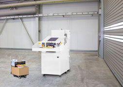 Combinación HSM SP 4040 V: Destructora industrial de documentos HSM Powerline FA 400.2 + Prensa compactadora KP 40V