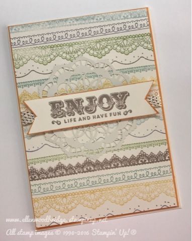 Ellen Woodbridge Independent Stampin' Up!® Demonstrator - Central Coast NSW Australia: Suite Sentiments and Delicate Details Card