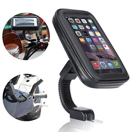 Support Etanche Téléphone, Ubegood Support Moto to du Guidon Universel Réglable Support de Téléphone sur Vélo & Moto, Rotation à 360 °pour…