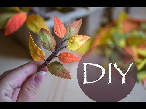 Осенние веточки с листьями из фоамирана Autumn branches and leaves of foam - https://www.youtube.com/watch?v=tiB0MudPtb0
