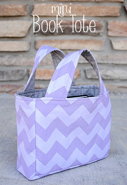 Make this mini book tote bag with pattern and tutorial. Also works great as scripture case pattern (YW could make at an activity!)