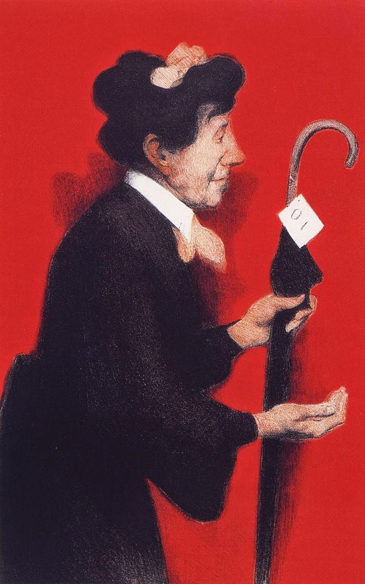 André Devambez - L'ouvreuse, ca 1900  Lithographie en couleur sur vélin