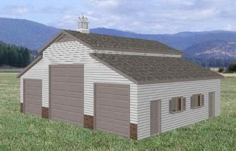 36 X 46 Rv Garage Barn Floor Plans Blueprints Garage