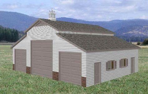 36 X 46 Rv Garage Barn Floor Plans Blueprints In 2019
