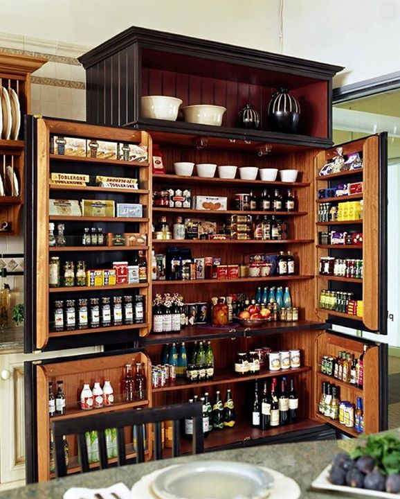 Stand-alone storage like this adds plenty of extra space if you don't have a large pantry.