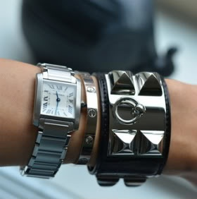 Gorgeous stacking- Cartier and Hermes CDC
