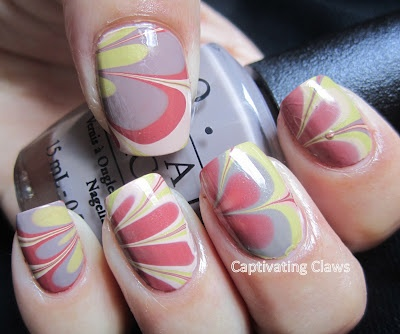 A Water Marble using some new OPI Germany Colors
