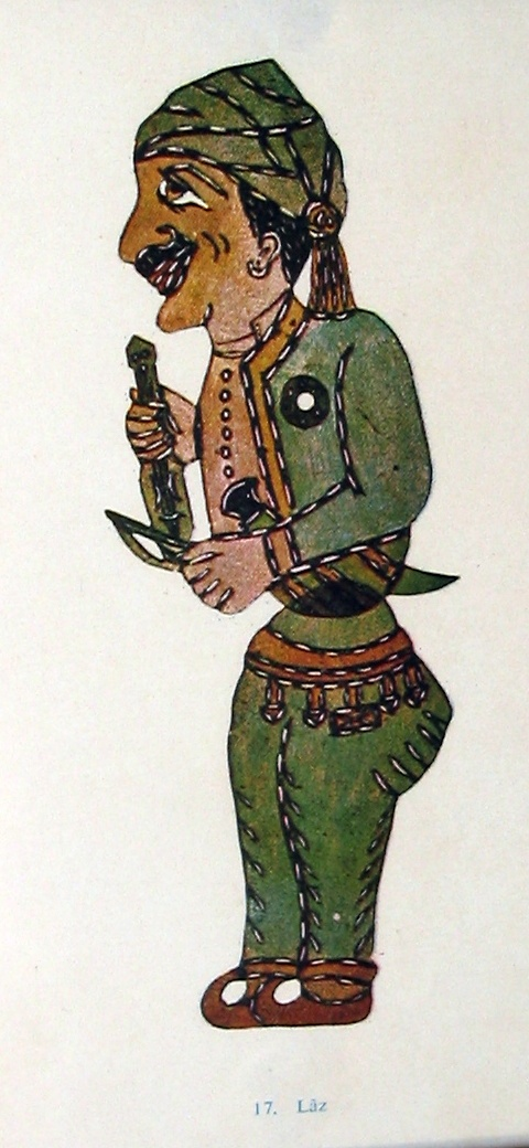 Karagöz - Turkish story telling tradition and shadow theater.Lâz.(native to the blacksea coastal region)