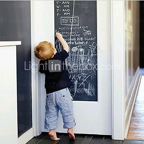 Easy Removable Blackboard House Keeping Vinyl Chalkboard Decals 200X45cm Chalkboard 2017 - £7.91