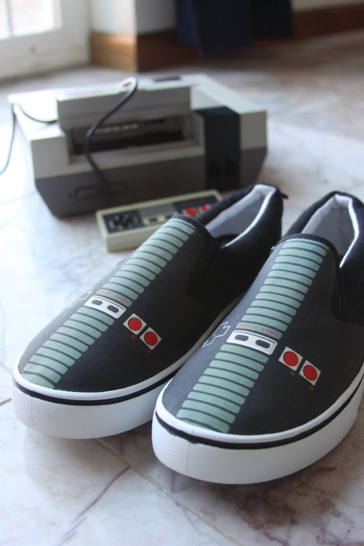 Retro NES Controller Shoes You Can Plug Your Toes Right Into -  #fashion #NES #nintendo #retro #shoes