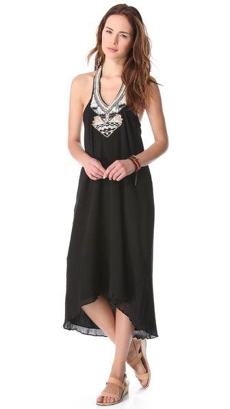 Love Sam Gauze Beaded Halter Maxi Dress at @Shopbop