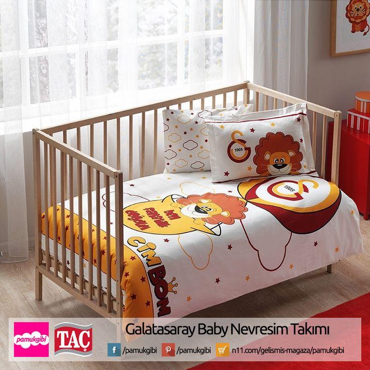 Taç Lisanslı Galatasaray Baby Nevresim Takımı  http://www.n11.com/gelismis-magaza/pamukgibi %15 İndirim. 65 TL yerine sadece 55 TL  Bebek odası, bebek odası takımı, bebek yatağı takımı, bebek yatağı, beşik, bebek nevresim takımı, taraftar, çarşaf, nevresim,