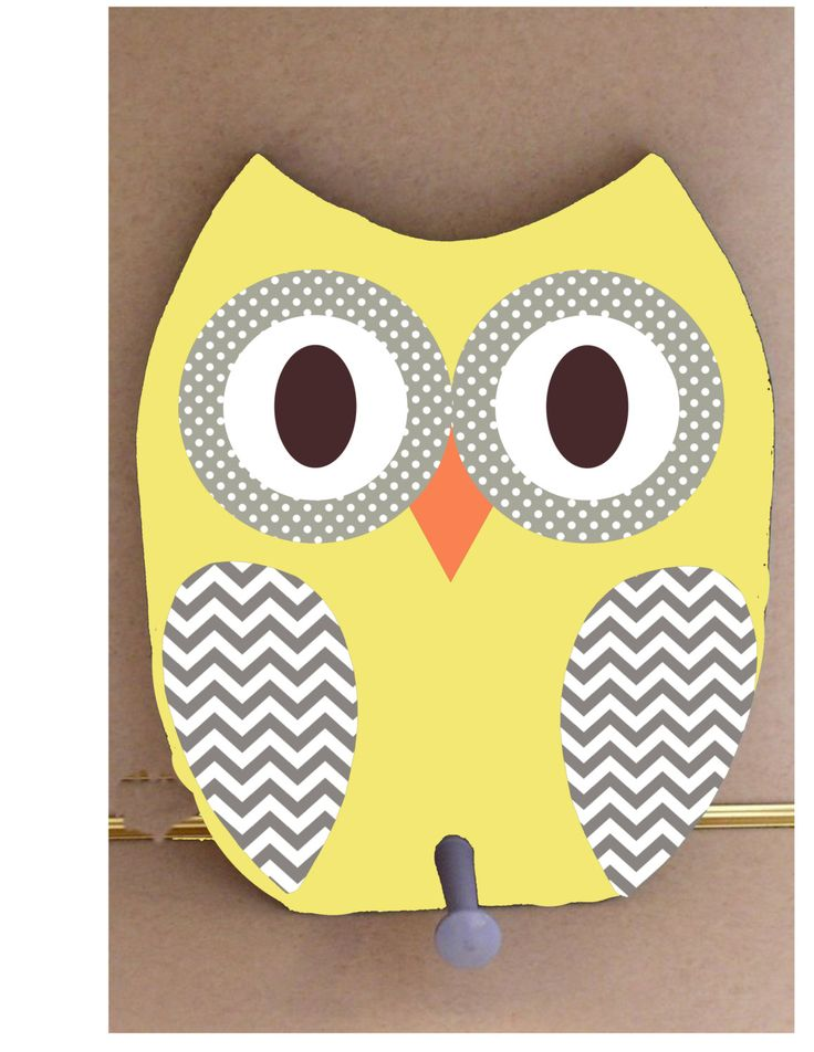 Owl Clothing Rack Wooden Owl Coat Hook Yellow And By