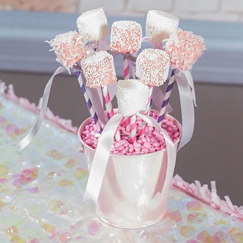 Create fantastic favors like our DIY Princess Marshmallow Pops for a fantastic treat for your princess themed party.
