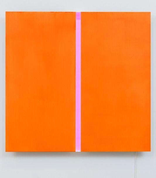 Vittorio Corsini - in the middle of the orange, Acrílico y led
