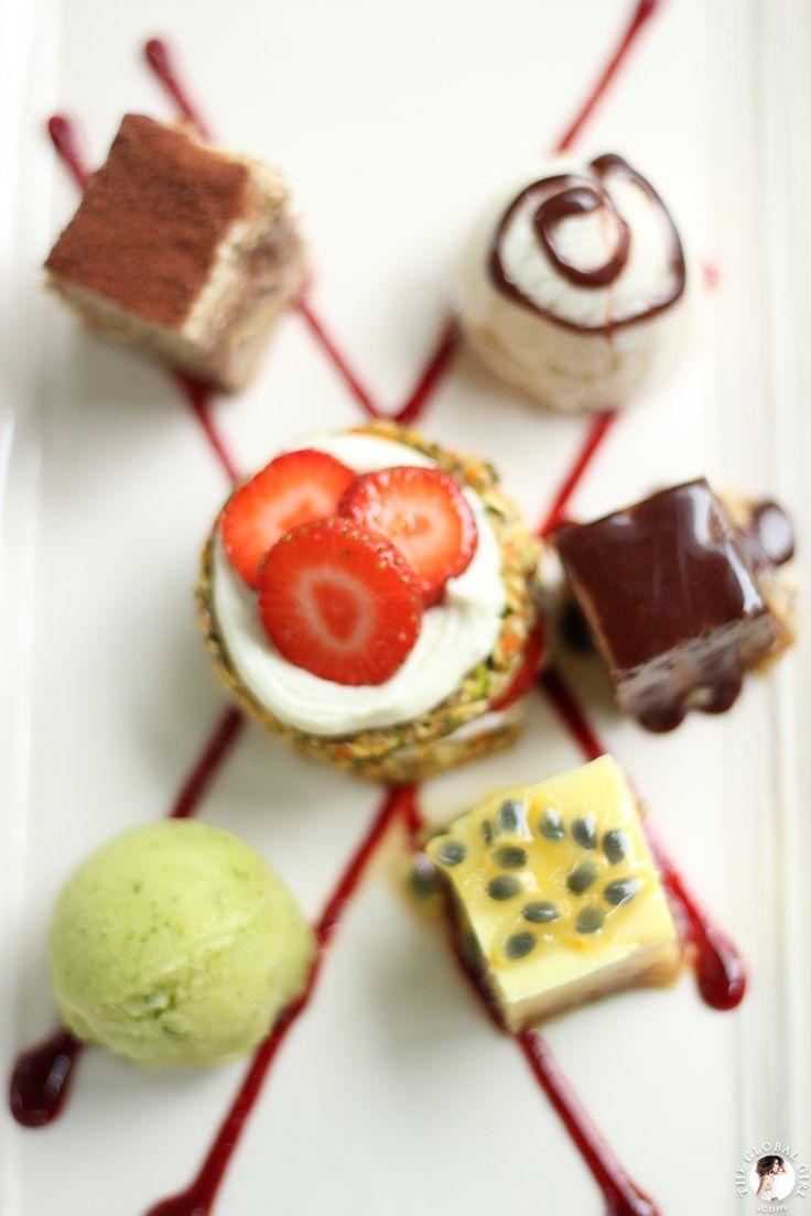 A fabulous sampler of raw vegan desserts at Five Elements, Bali. #rawfood #healthy #desserts