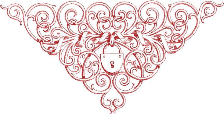 ornate lock, also in b&w
