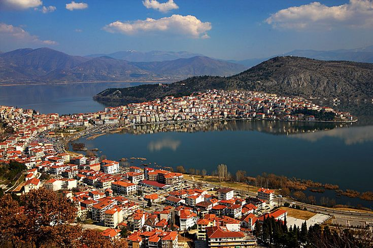 GREECE CHANNEL | View of Kastoria n Lake Orestiada. #Kastoria, #Macedonia_ #Greece http://www.greece-channel.com/