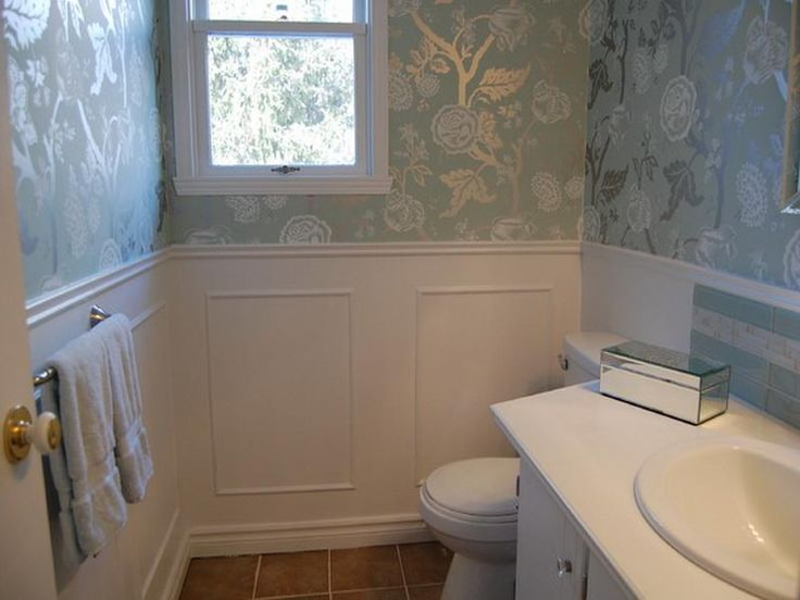 14 best powder room images on pinterest bathroom - Small powder room decorating ideas ...