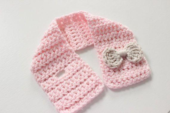 Bebé bufanda bufanda de niño bebé rosa por TinyLittleMemories