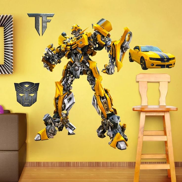 Transformer Bumblebee Wall Stickers & 20 best Transformers Wall Stickers images on Pinterest | Wall clings ...