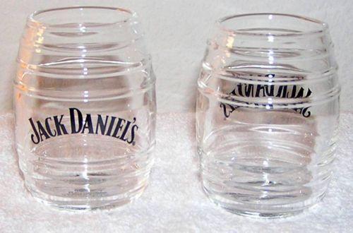 Jack Daniels GLASS BARREL (SHOT GLASS) Brand New Design