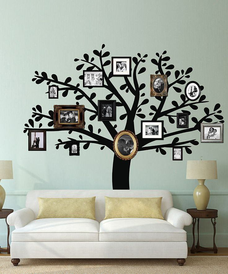Black Family Tree Wall Decal