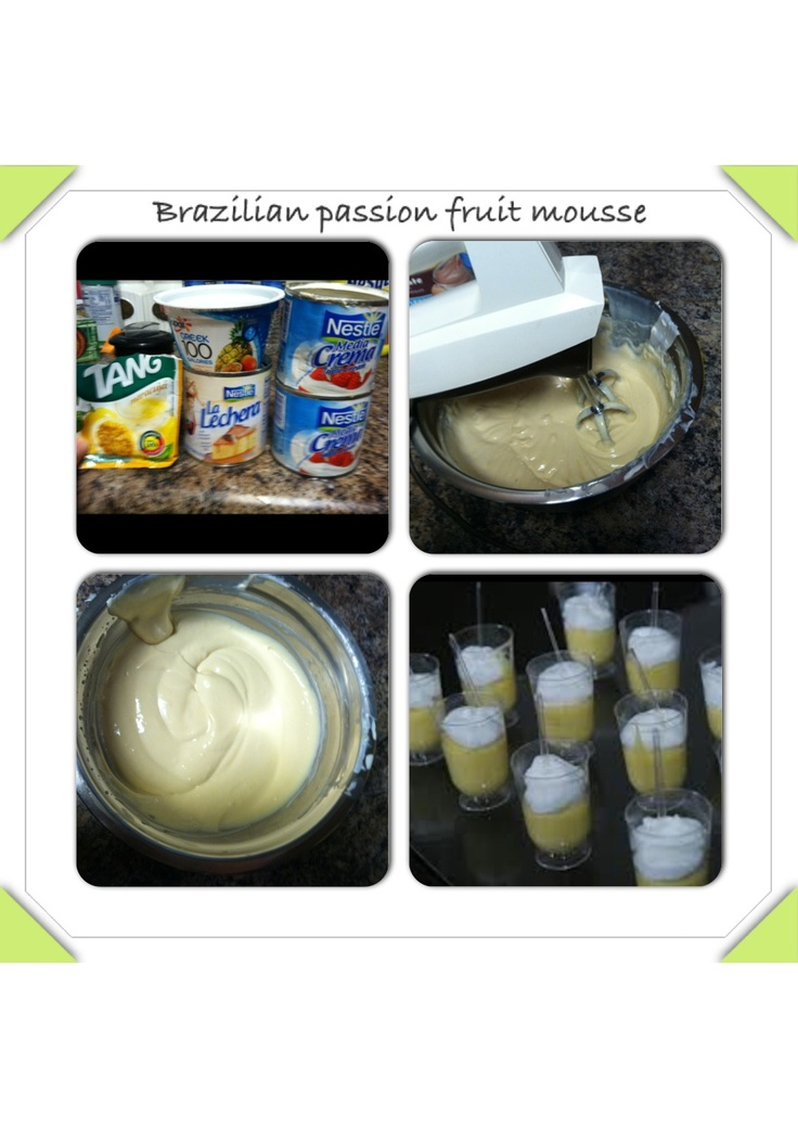 42 best brazilianodcipes images on pinterest brazilian food brazilian food easy to make brazilian passion fruit mousse follow the steps and ur forumfinder Images