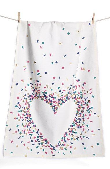 'Confetti Heart' dish towel
