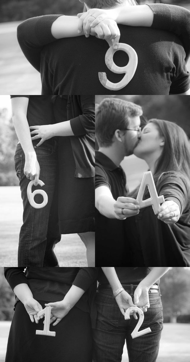 Get the most out of your engagement shoot by creating these charming, personalized table number photos!  Just place photos in fun, decorative frames on each #reception table.  This is a great way to customize your #wedding decor and save money!