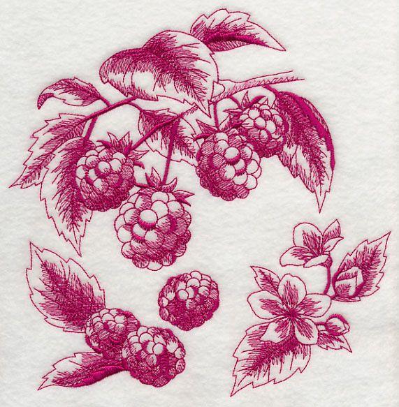 Raspberry Botanical (Toile)