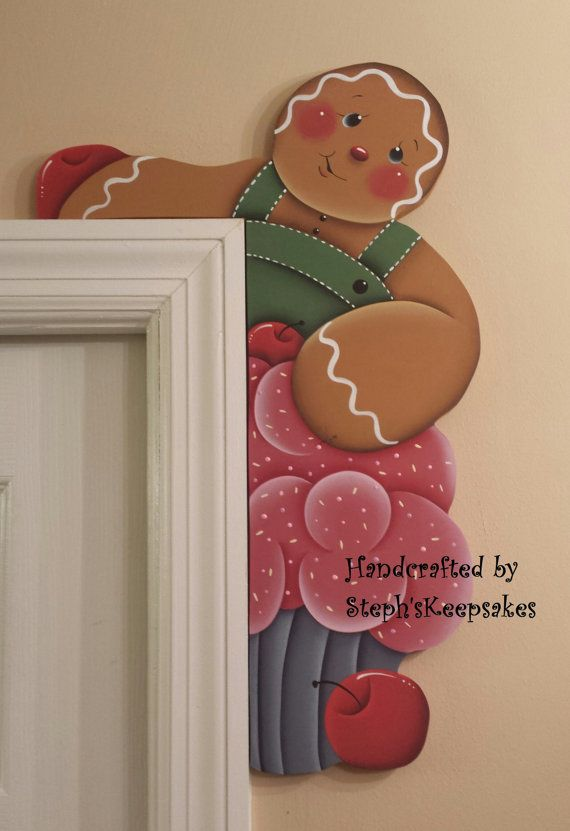 Hand Painted Gingerbread  Door Huggers, gingerbread man, gingerbread kitchen, ginger decor, gingerbread boy on Etsy, $23.95