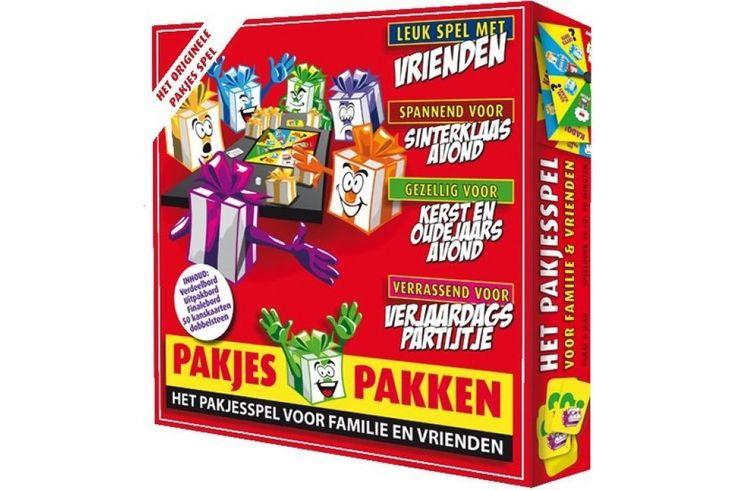 Het Pakjesspel - Leuk spel met vrienden - Spannend voor sinterklaasavond - Gezellig met Kerst en oudejaarsavond - Leuk Sinterklaas- en Kerstcadeau